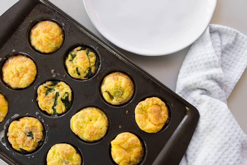 egg muffins in pan birdseye