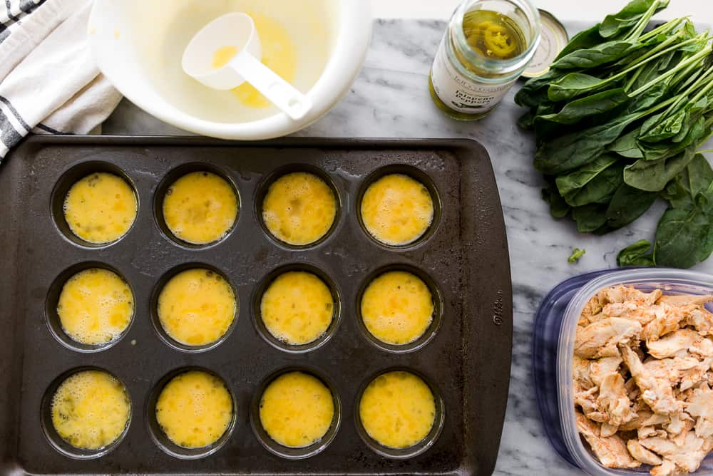 low carb egg muffins meal prep