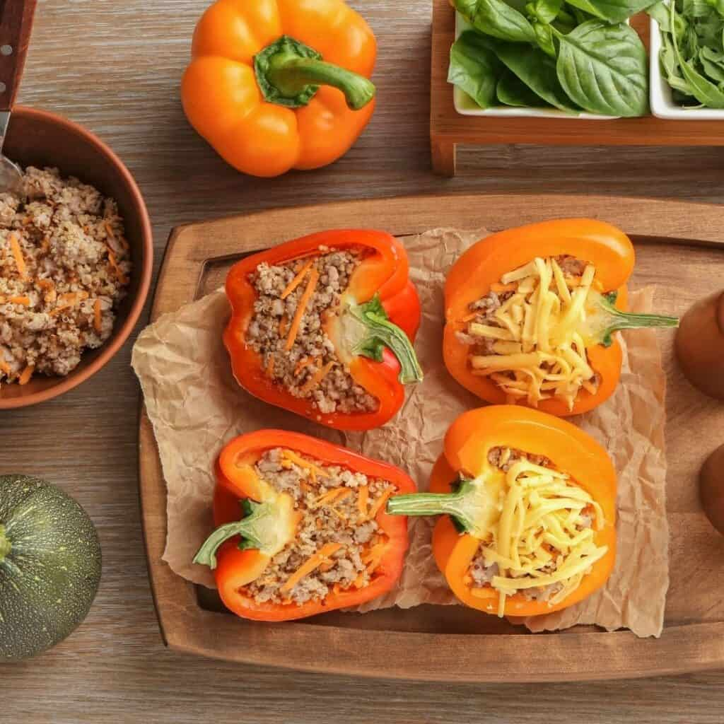 quinoa stuffed bell peppers ingredients