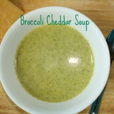 Roasted Broccoli Cheddar Soup
