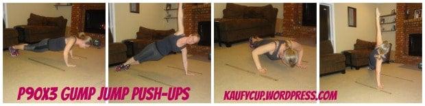 P90X3 Agility X gump jump pushups