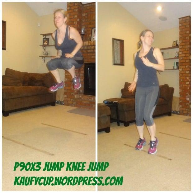 P90X3 Agility X jump knee jump
