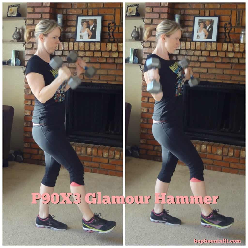 Georgia lifestyle blogger, Amanda Seghetti, shares an in depth P90X3 Total Synergistics review. Here she demonstrates the Glamour Hammer.