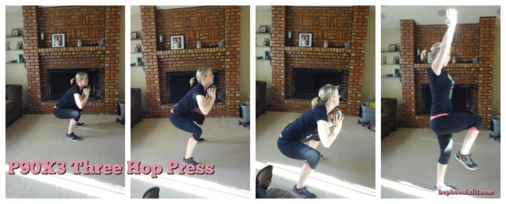 Georgia lifestyle blogger, Amanda Seghetti, shares an in depth P90X3 Total Synergistics review. Here she is demonstrating the Three Hop Press.