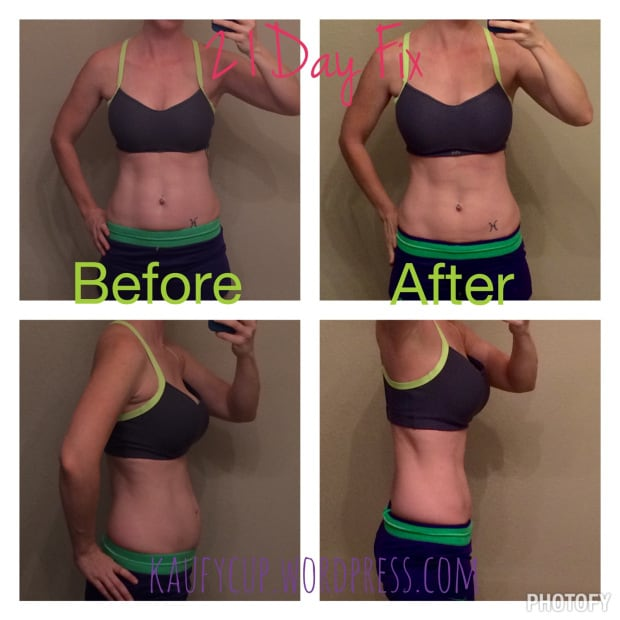 21 day fix before and after photos