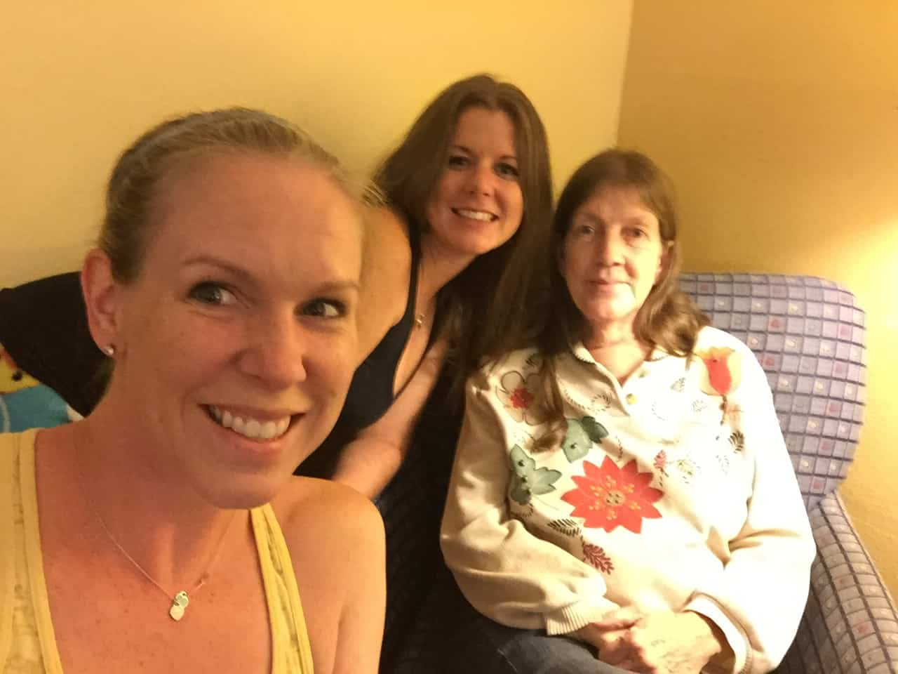 The last picture I took with my mom and sister, October 2015