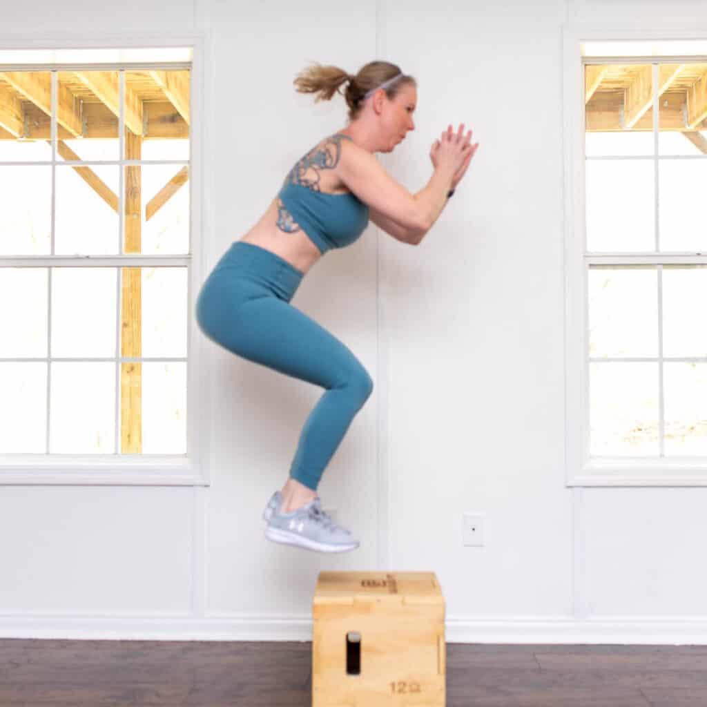 plyo box jumps