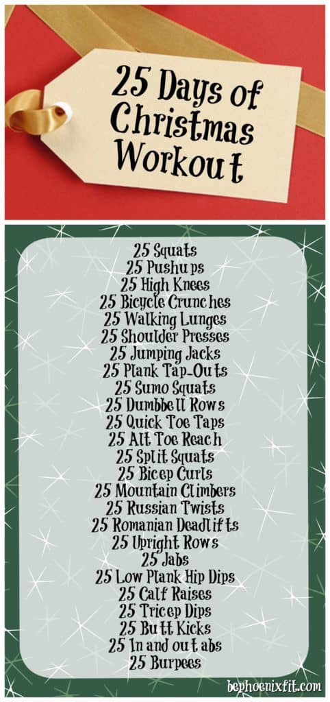 Colorado lifestyle blogger, Amanda Seghetti, shares a 25 Days of Christmas Workout plan! Check it out now!