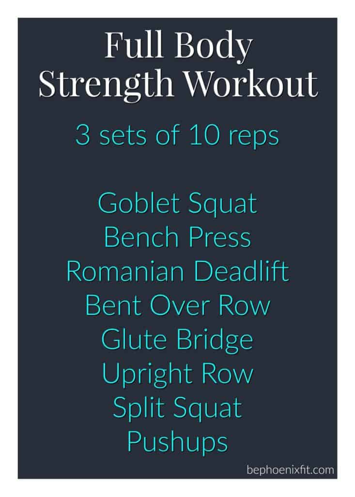 Colorado lifestyle blogger, Amanda Seghetti, shares the perfect Full Body Strength Workout to get lean and toned. Check it out now!