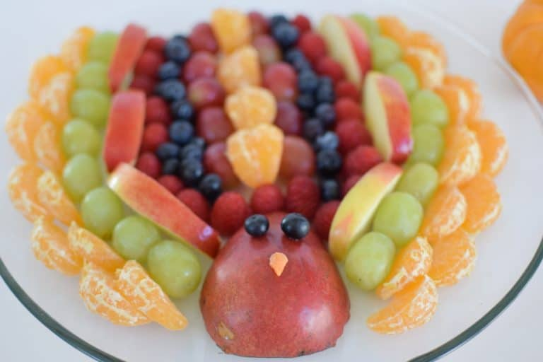 Fruit Turkey Thanksgiving Appetizer