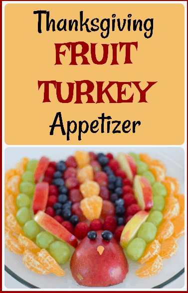 Colorado lifestyle blogger, Amanda Seghetti, shares an adorable fruit turkey to serve as an appetizer at your next Thanksgiving meal!