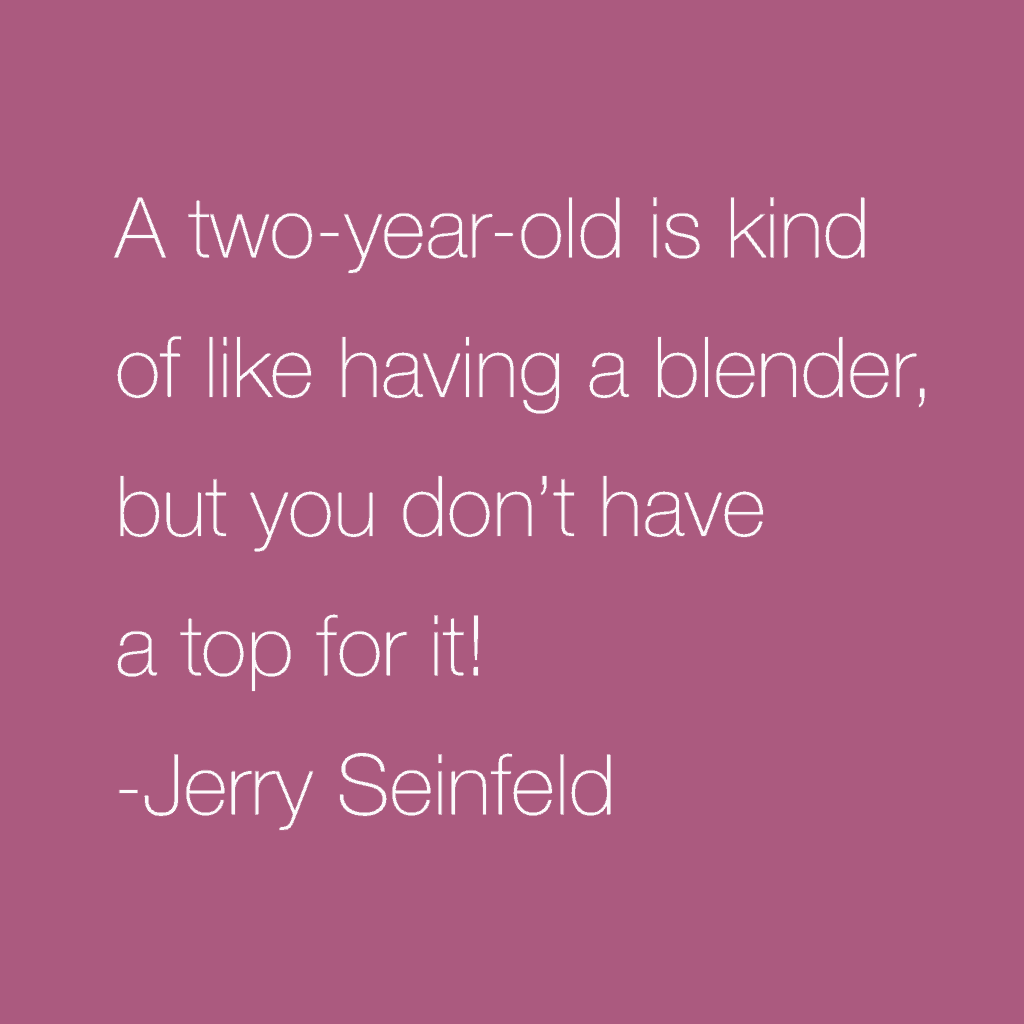 funny quote about parenting from Jerry Seinfeld