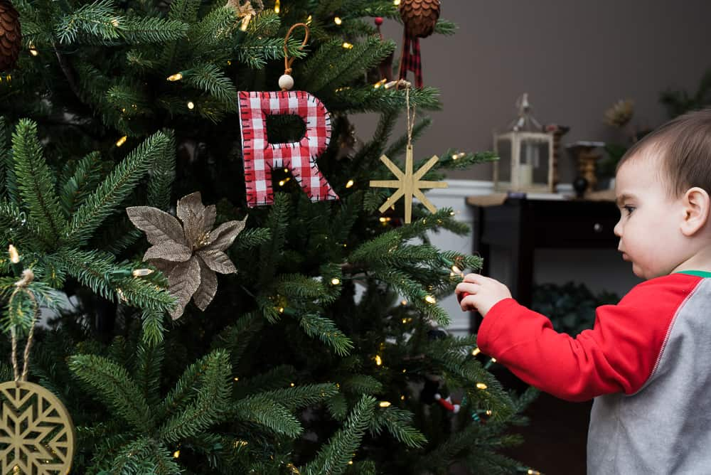 safely decorate Christmas tree for toddlers