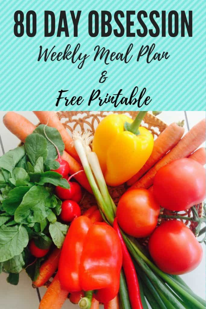 80 Day Obsession Meal Plan