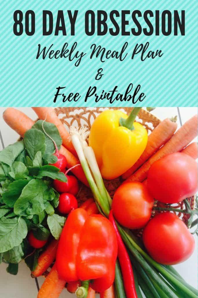 Colorado lifestyle blogger, Amanda Seghetti, shares an 80 Day Obsession Meal Plan & Free Printable!