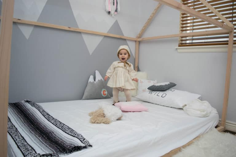 DIY Mountain Nursery with Wall Mural