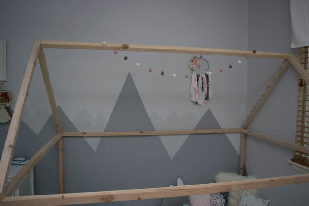Pink and gray baby nursery decor
