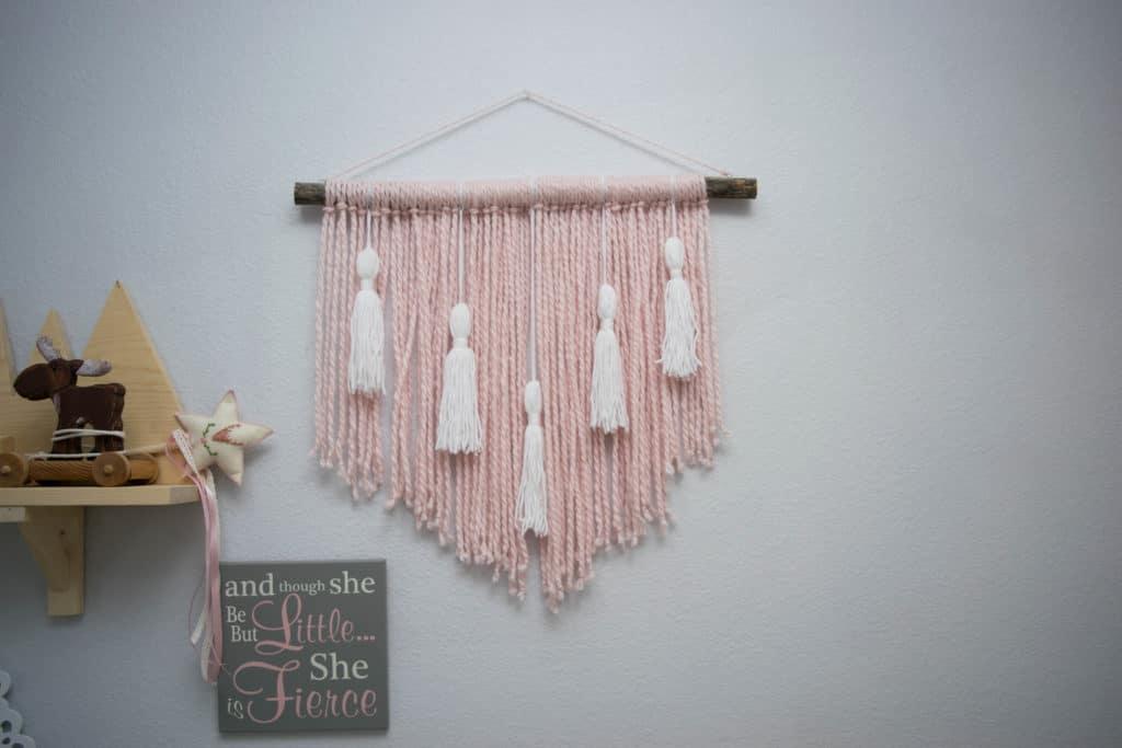 Handmade decor for baby's bedroom