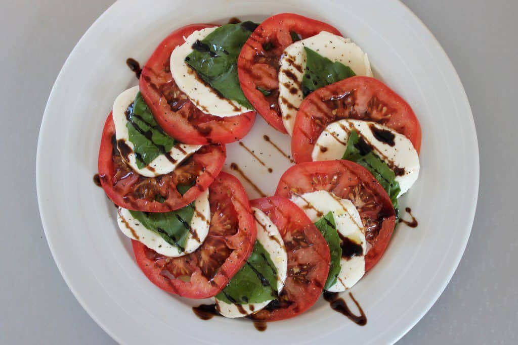 80 Day Obsession Meal Plan caprese salad.
