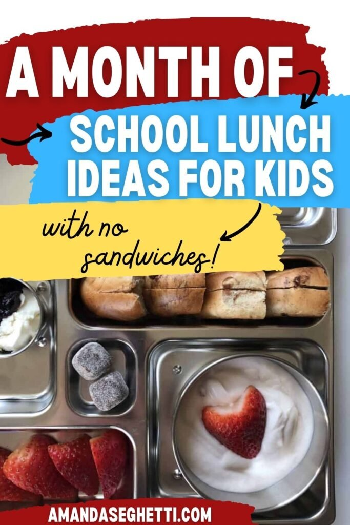 A Month of School Lunch Ideas for Kids
