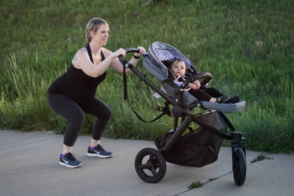 squats stroller workout