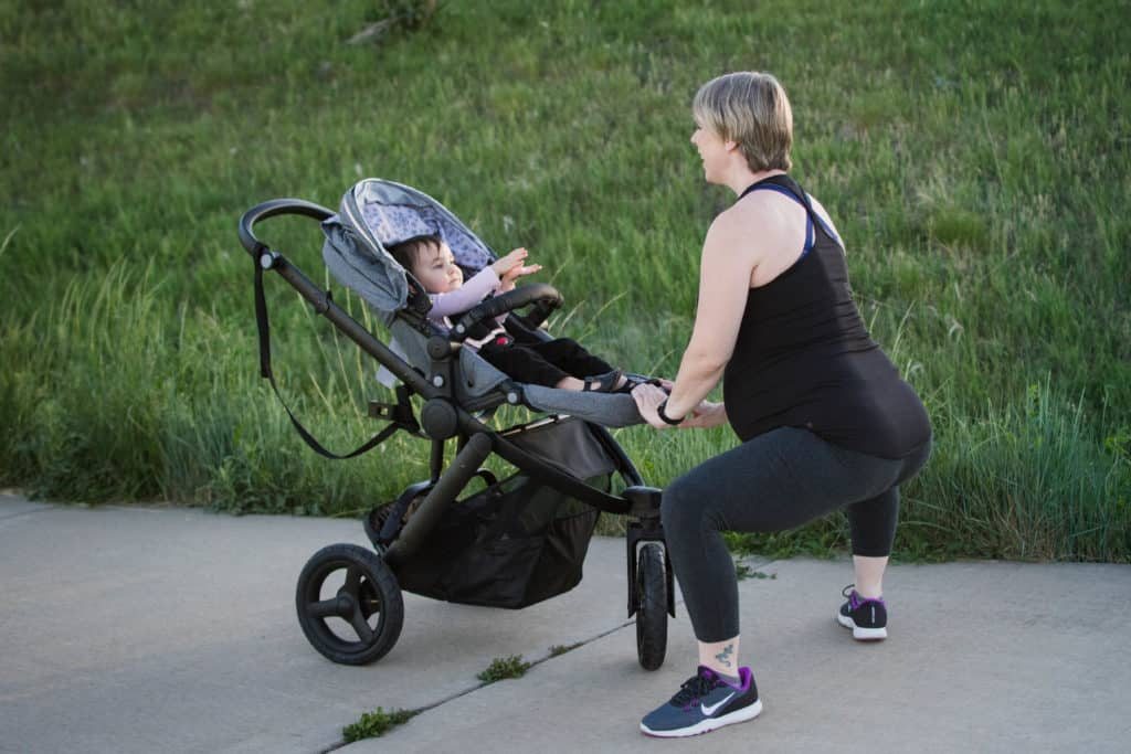 sumo squats stroller workout