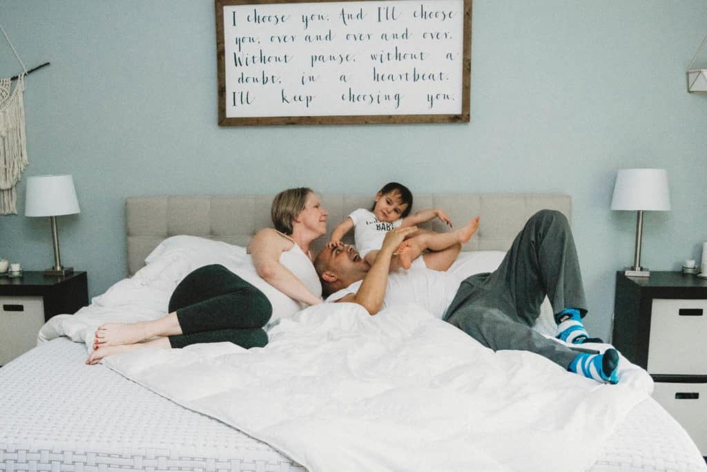 family on copper fit mattress