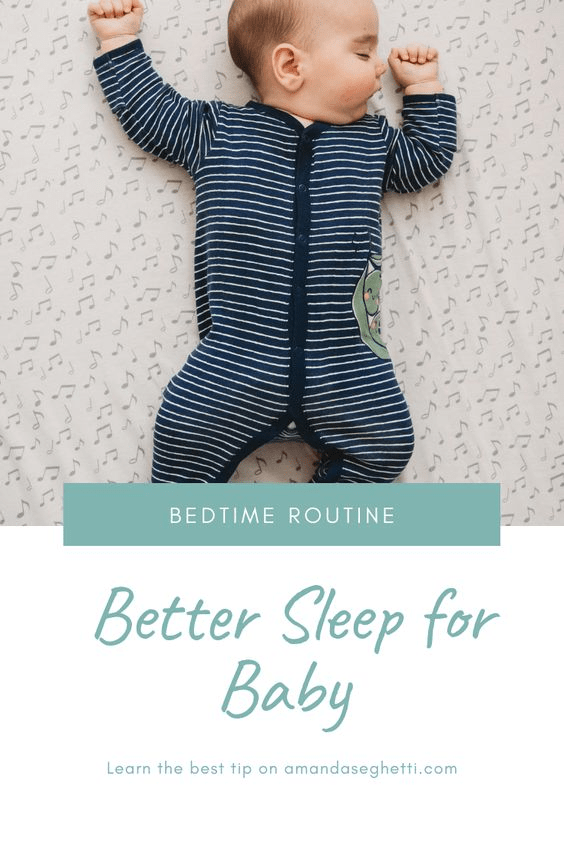 bedtime routine to help baby sleep better