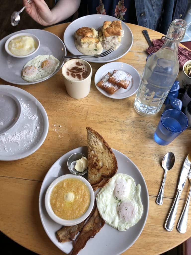 Southern breakfast at Sassafras - Colorado lifestyle blogger, Amanda Seghetti, shares a GIrls' Getaway at the Dove Inn in Golden, Colorado. Check it out now!