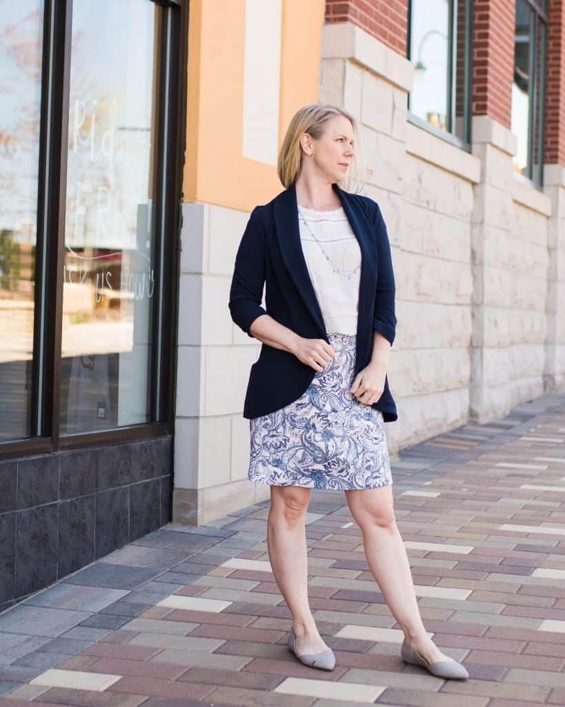 Navy blazer | Colorado lifestyle blogger Amanda Seghetti