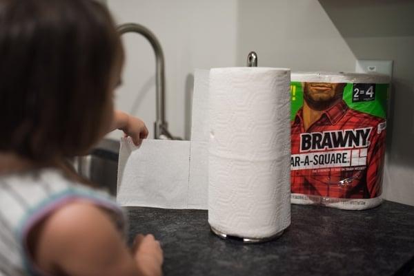 Brawny Tear a Square quarter sheet