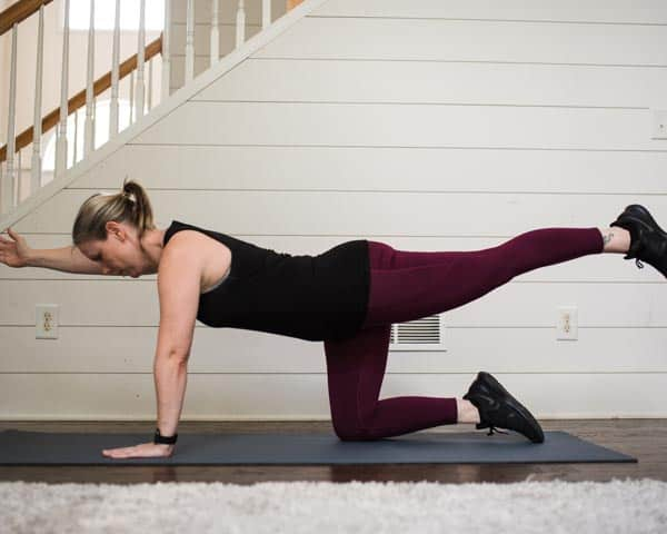 Bird Dog easy posture exercises
