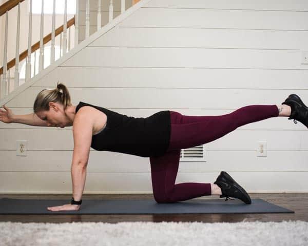 Bird Dog easy posture exercises