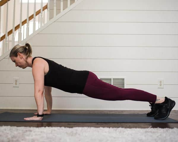 Health and Fitness blogger Amanda Seghetti demonstrates the plank and easy posture exercises
