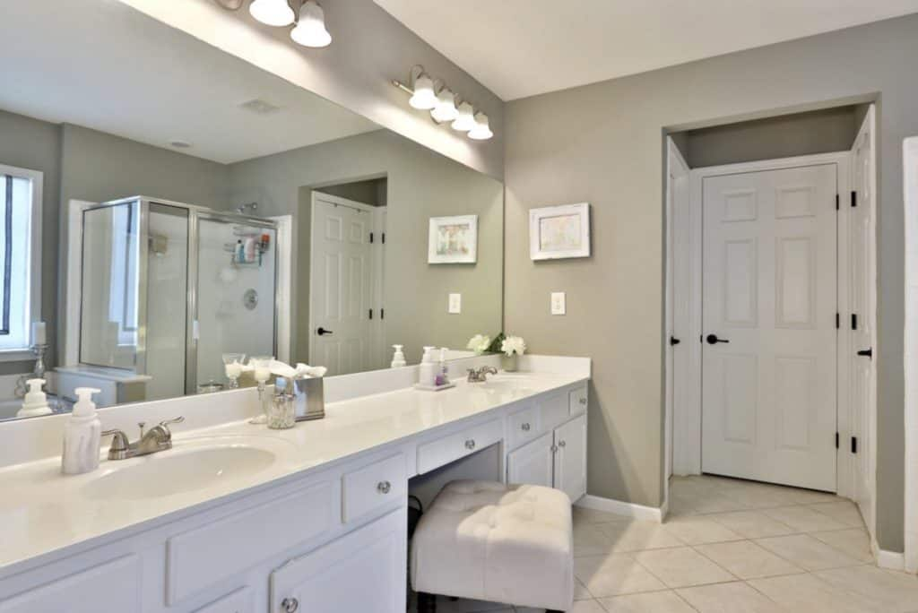 Easy master bath remodel before and after photos