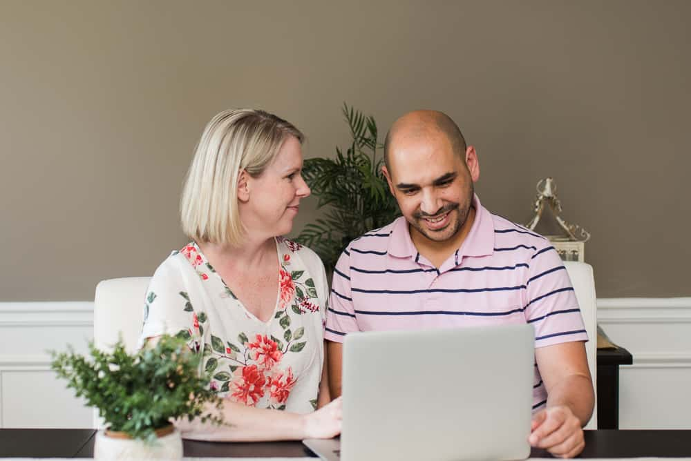 Amanda Seghetti and Husband research life insurance policy