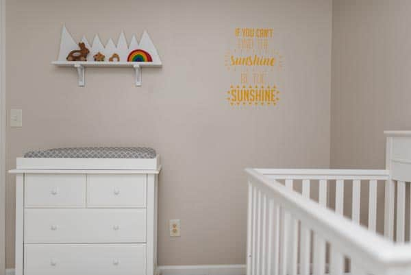 Baby Nursery Makeover with sunshine decor