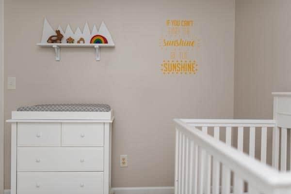Baby Nursery Makeover with sunshine decor