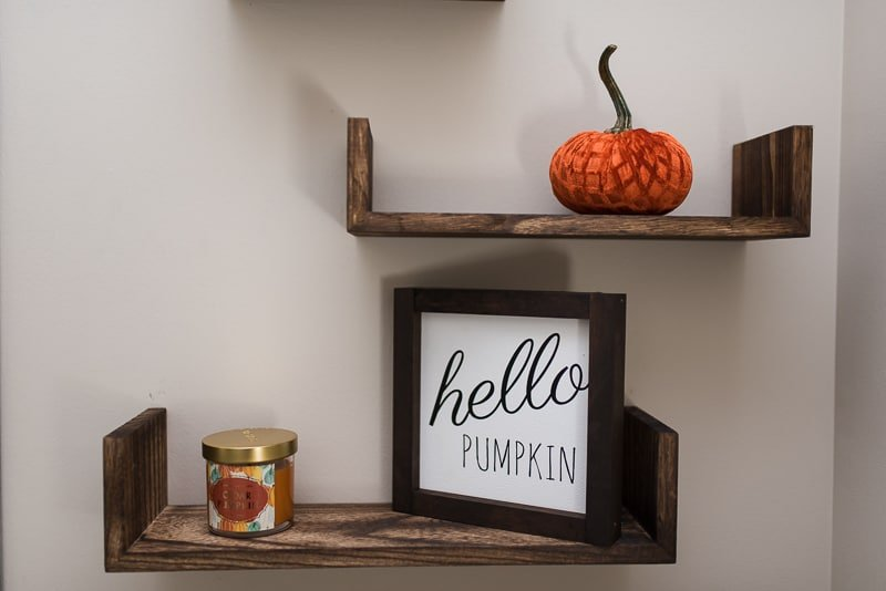 Bathroom shelves farmhouse fall decor