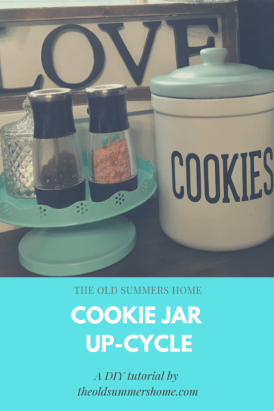 Farmhouse Cookie Jar Upcycle DIY tutorial