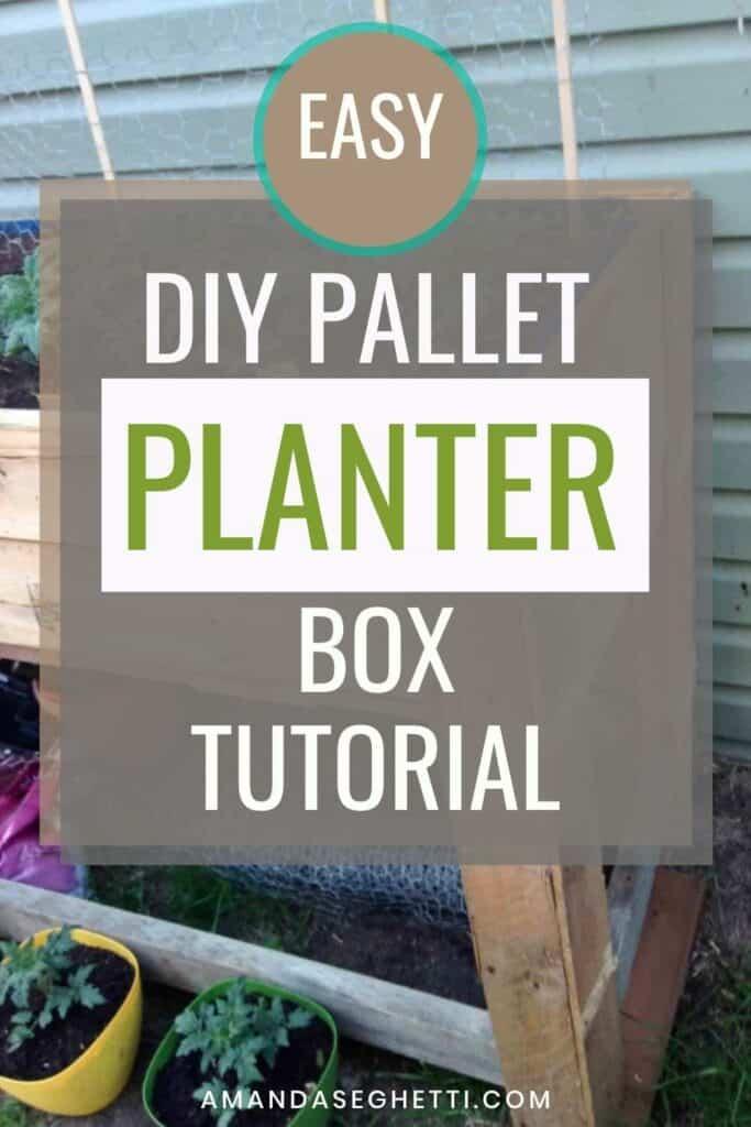 Easy DIY Tutorial for Beginners Pallet Planter Box Raised Garden Bed