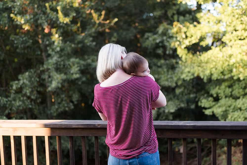 Lifestyle Blogger Amanda Seghetti holding baby boy