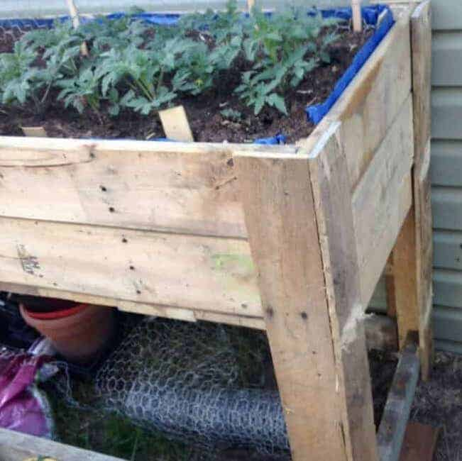 Raised Garden Bed Using Pallets