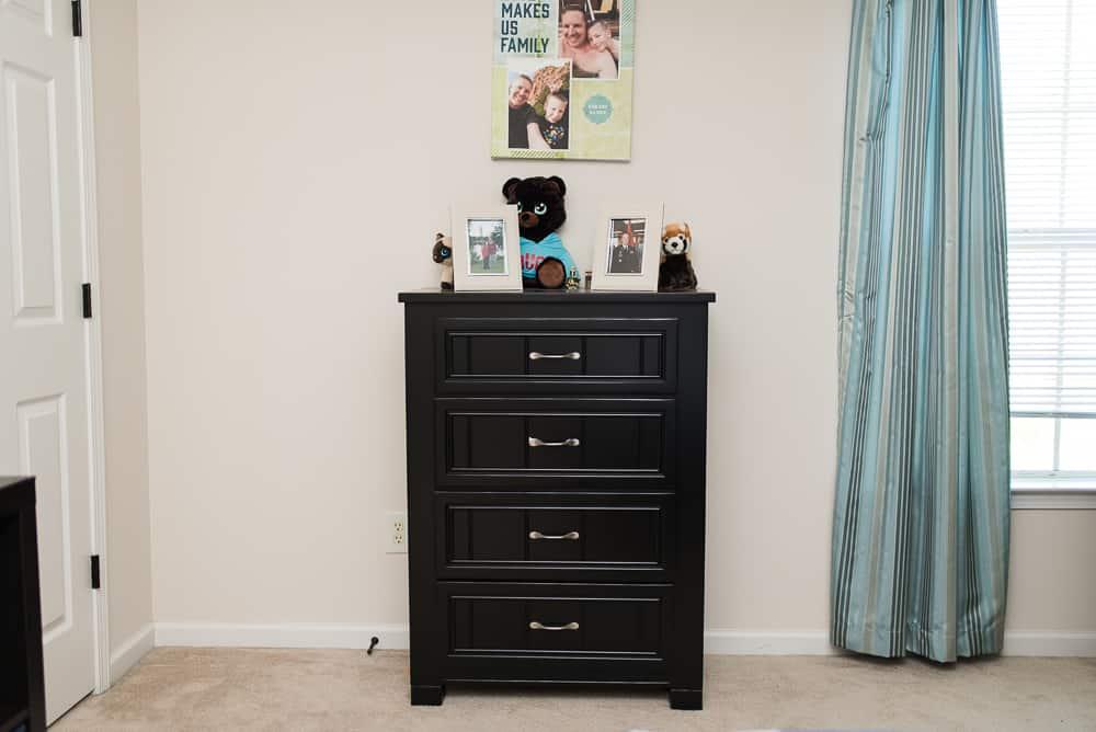 Rooms to Go dresser in boys bedroom