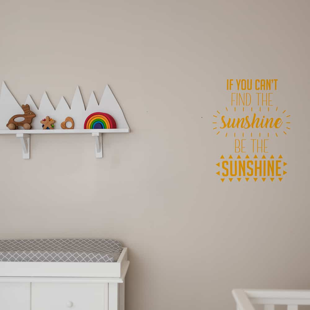 Sunshine quote vinyl wall decal
