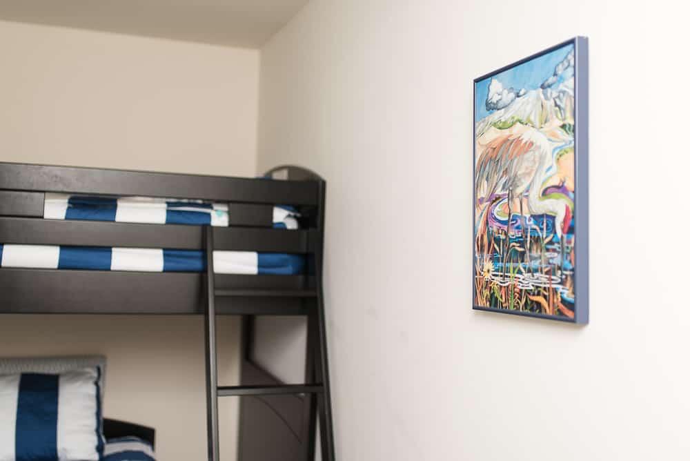 art by Linda Hunter in tween boys bedroom decor