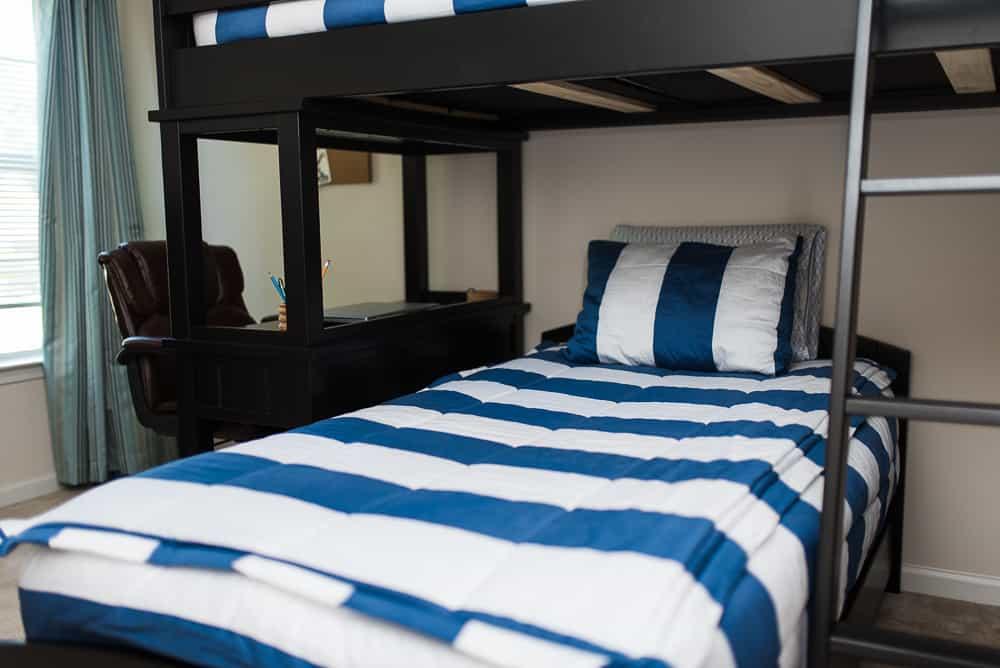 bunk beds in tween boys bedroom