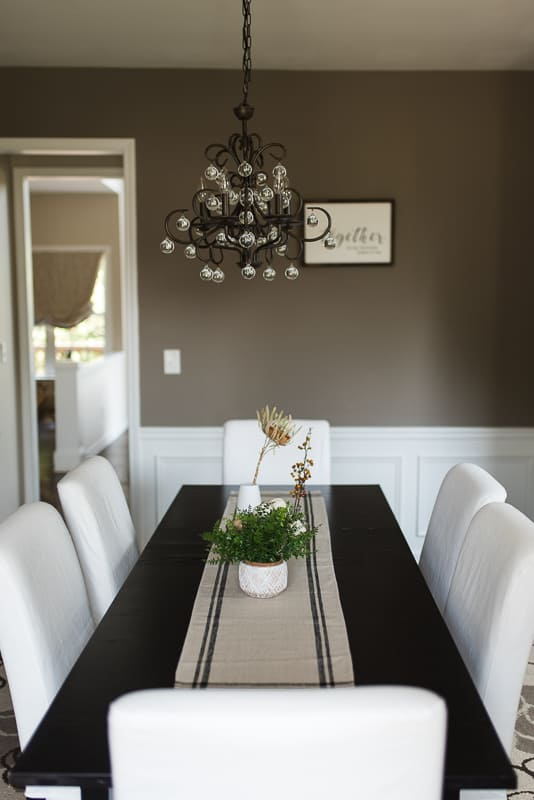 dining room fall decor vertical - Amanda Seghetti