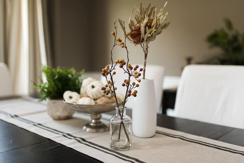 dining room neutral fall decor