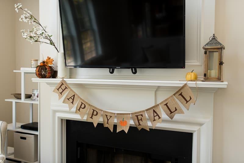 happy fall burlap banner